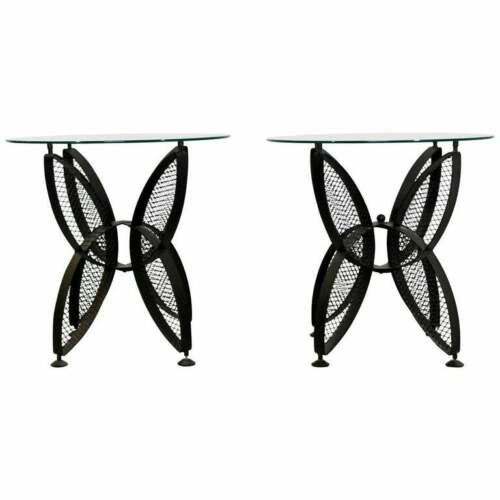 Mid Century Modern Tempestini Salterini Butterfly Patio Pair Side Tables 1960s For Sale - Image 12 of 12