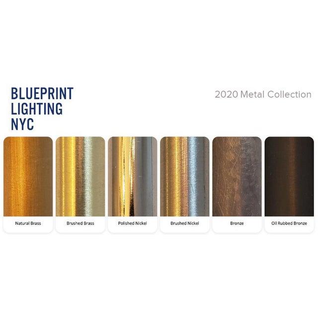 Blueprint Sculptural Enamel, Glass & Bronze Orbital 3-Arm Pendant For Sale - Image 12 of 12