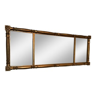 Antique Horizontal Giltwood Mirror For Sale