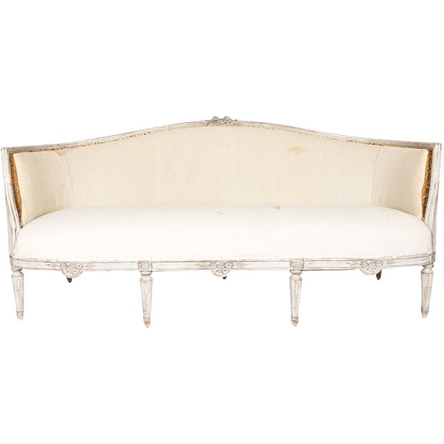 Wondrous White Painted Gustavian Style Sofa Squirreltailoven Fun Painted Chair Ideas Images Squirreltailovenorg