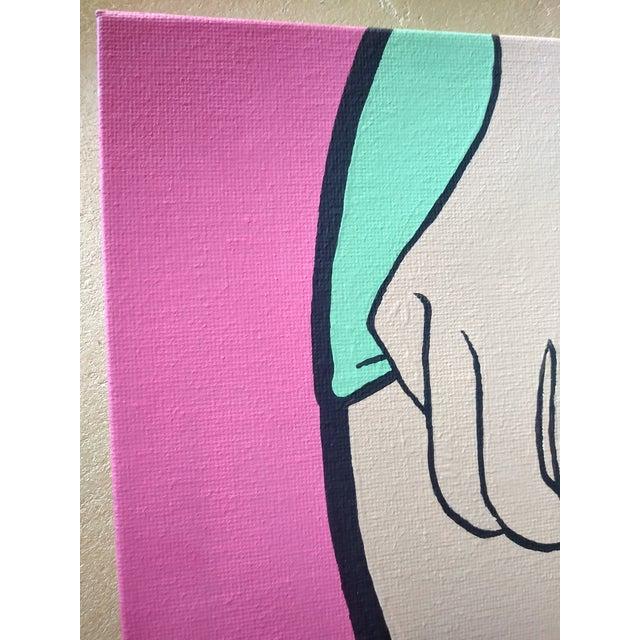 2020s Lictenstien Inspired Original Pop Art Acrylic Painting For Sale - Image 5 of 11