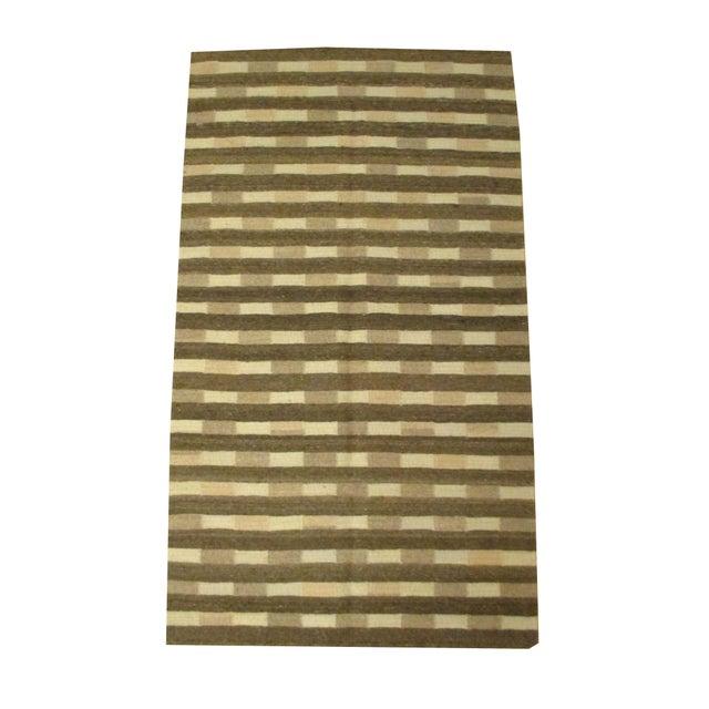 "Linda Beldon Handmade Wool Rug - 3' X 5'1"" - Image 1 of 2"