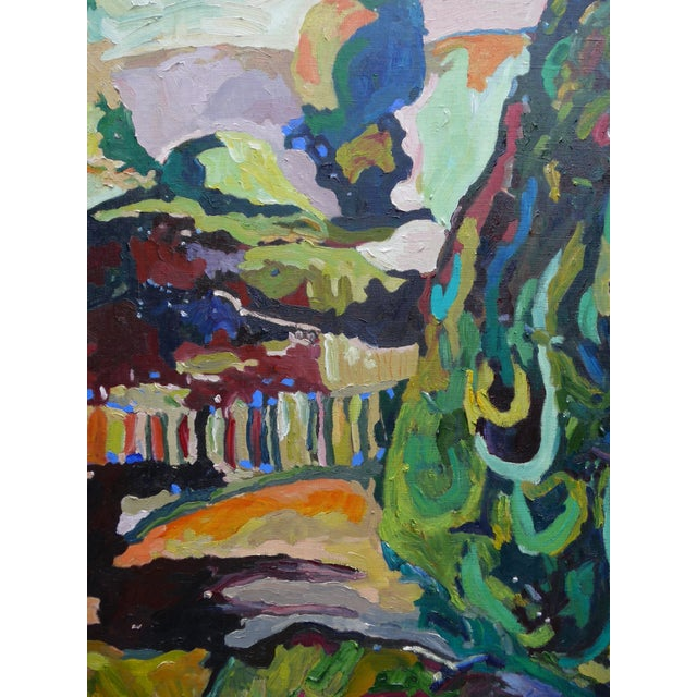 French Garden Near Paris, Oil Painting - Image 2 of 6