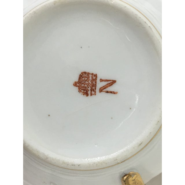 Cappodimonte Porcelain Coffee Cup and Saucer For Sale - Image 6 of 8