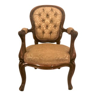 Antique French Rosewood Child's Chair. For Sale
