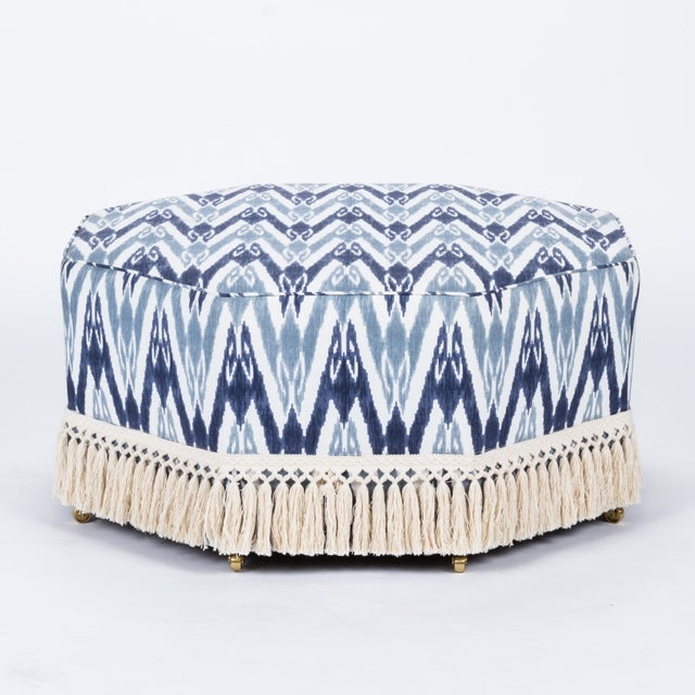 Casa Cosima Istanbul Cocktail Ottoman in Ikat For Sale In Los Angeles - Image 6 of 6
