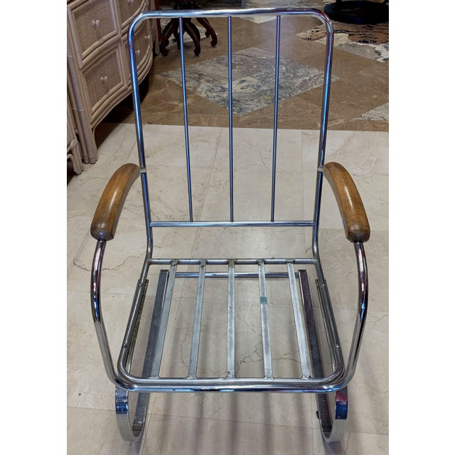 Metal Kem Weber Style Spring Lounge Chair For Sale - Image 7 of 13