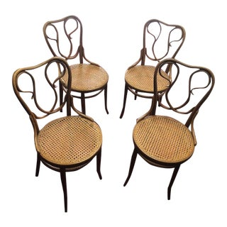 Thonet Bentwood Cafe Chairs -Set of 4 For Sale