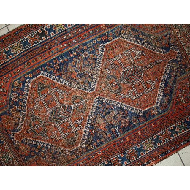 1910s Antique Persian Shiraz Rug - 3′9″ × 5′ - Image 6 of 11