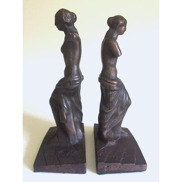 """Vintage 1920's Rare """" Venus De Milo """" Cast Iron Bronze Neoclassical Bookend Statues - a Pair For Sale - Image 10 of 13"""