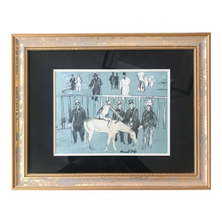 Raoul Dufy Vintage Color Lithograph Framed For Sale