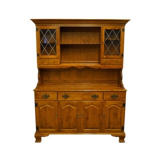 Ethan Allen Heirloom Nutmeg Maple China Cabinet For Sale