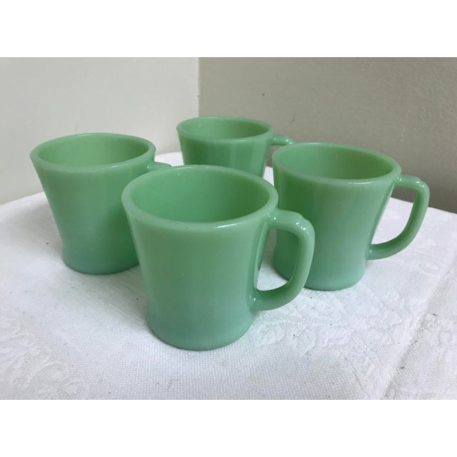 Asian Vintage Fire-King Jadeite Green Mugs - Set of 4 For Sale - Image 3 of 7