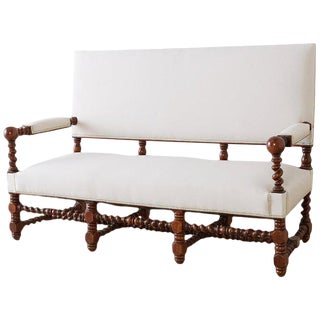 19th Century English Barley Twist Sofa Settee For Sale