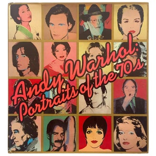 """ Andy Warhol Portraits of the 70's "" Rare Vintage 1979 1st Edition Iconic Whitney Museum Exhibition Collector's Hardcover Art Book For Sale"
