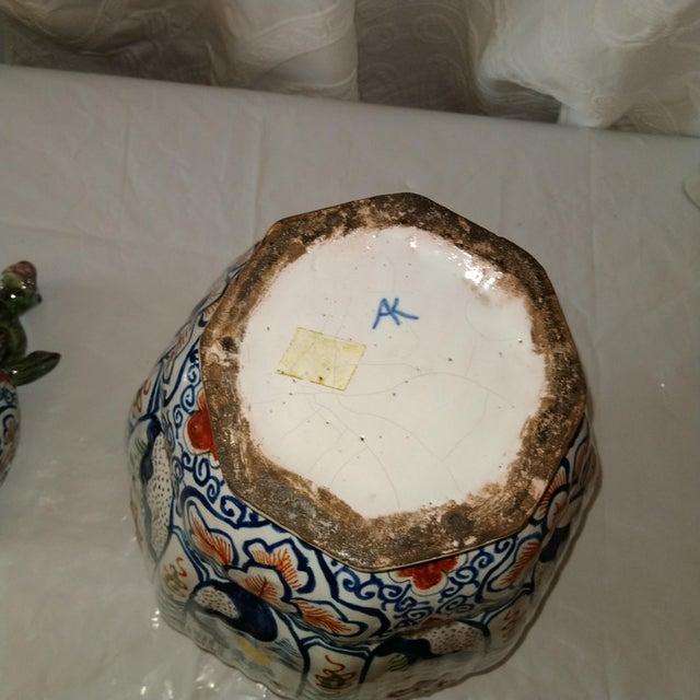 Royal Blue Delft Lidded Ginger Jar For Sale - Image 8 of 12