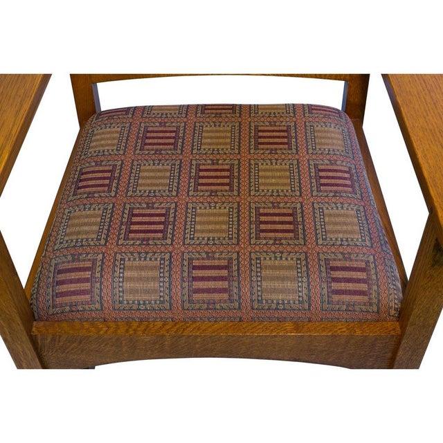 Stickley Harvey Ellis Oak Art & Crafts Chairs - Pair - Image 7 of 9