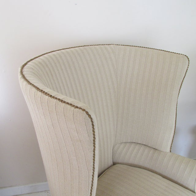 Victoria Hagen Home ''Wainscott'' Wingback Chairs- A Pair For Sale In New York - Image 6 of 10