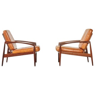 Pair of Kai Kristiansen Rosewood Paper Knife Chairs, Denmark, 1960s For Sale