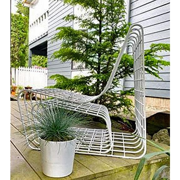 Metal 1970s Mod Wire Lounge Chair With Ottoman For Sale - Image 7 of 13