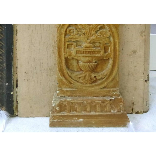 18th Century Boiserie Panels Mounted as Trumeau Mirrors - A Pair For Sale - Image 9 of 11