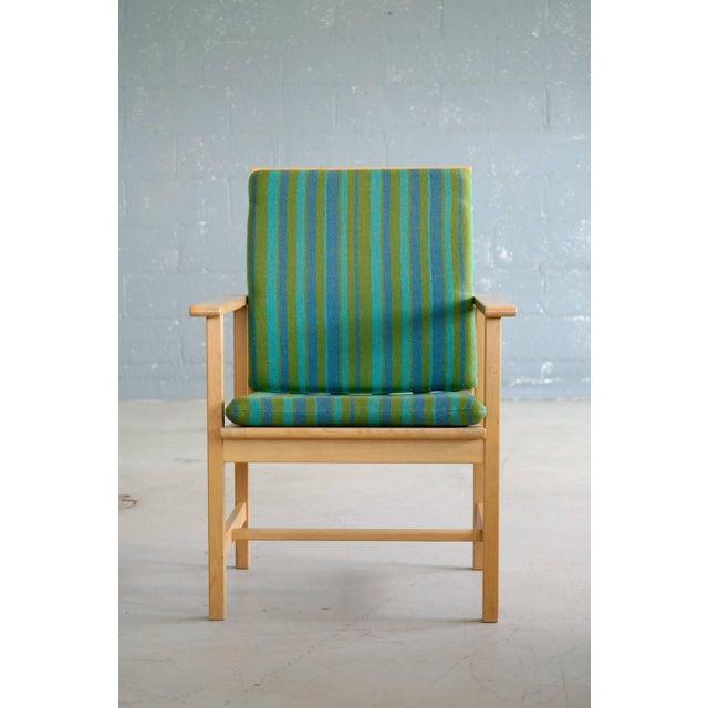 Pair of Børge Mogensen Model 2257, Oak Lounge Chair for Fredericia Stolefabrik For Sale - Image 9 of 10