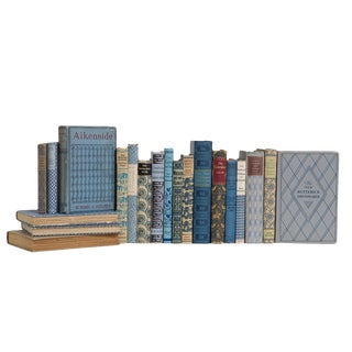Vintage Denim and Wheat Book Set For Sale