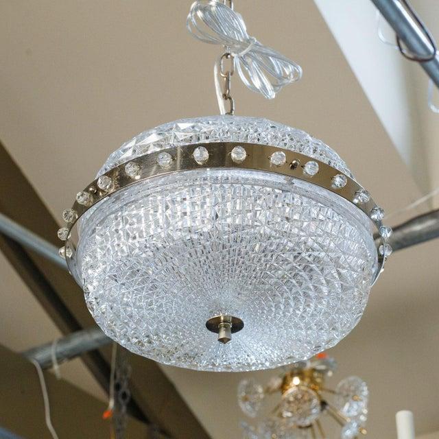 Mid-Century Modern Swedish Glass Pendant For Sale - Image 3 of 8
