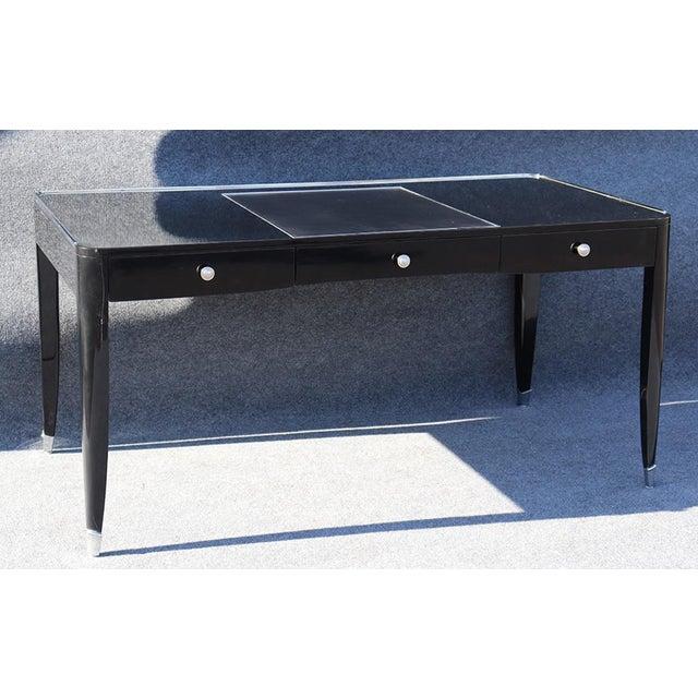 Ralph Lauren Black Ralph Lauren One Fifth Paris Bureau Plat Writing Table Desk For Sale - Image 4 of 11