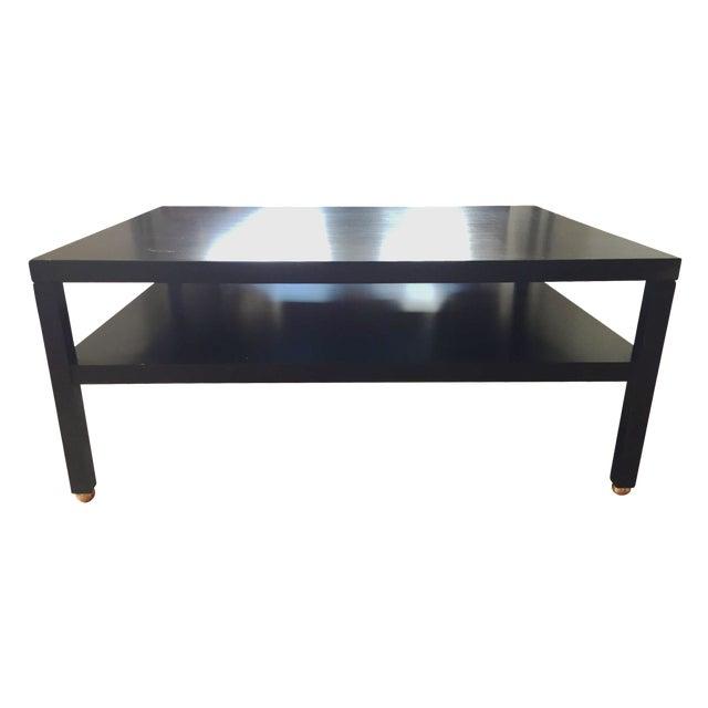"Modern Black ""Morris"" Coffee Table - Image 1 of 7"