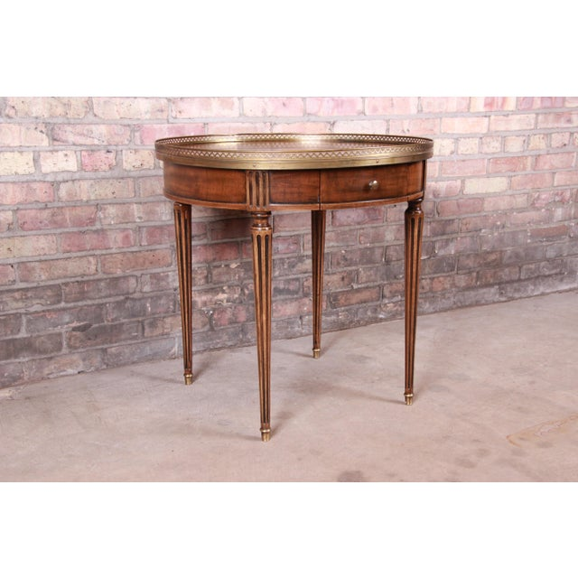 1960s Baker Furniture French Regency Louis XVI Walnut Tea Table For Sale - Image 5 of 13