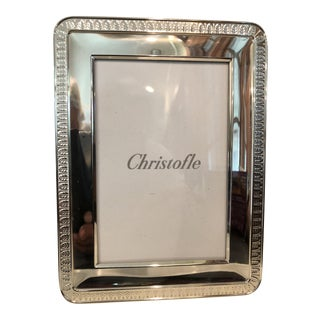 """Silverplate Christofle Malmaison 4"""" x 6"""" Picture Frame For Sale"""