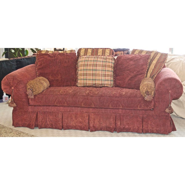 Truly awesome pillow back sofa from Lane & Raymond Waites. Purchased NEW from Haverty's here in Atlanta. Very comfortable...