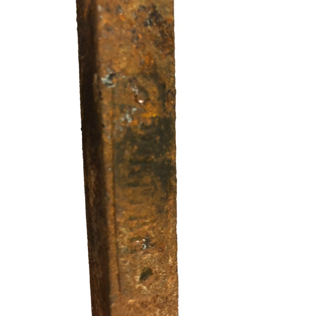 Brass Chippendale-Style Brass Andirons - A Pair For Sale - Image 7 of 11