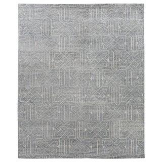 Cambrai Flatweave Wool Aqua Rug - 8'x10' For Sale