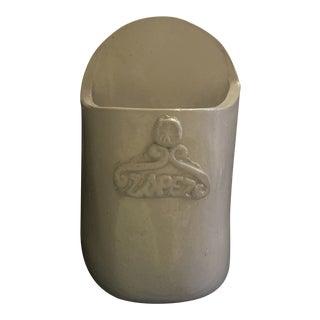 Vintage Lopez Cement Ceramic Planter For Sale