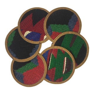 Rug & Relic Kilim Coasters Set of 6 | Aysel For Sale