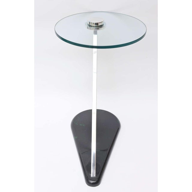 Angled Sculptural Nickel Silver, Glass and Resin Side Table - Image 4 of 10