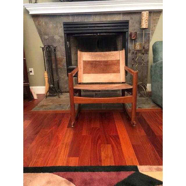 1950s Vintage Michael Arnoult Sling Chair Rocker For Sale - Image 12 of 12