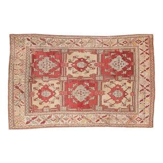 "Vintage Turkish Oushak Carpet - 5'5"" X 8'6"""