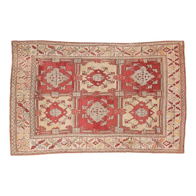 "Vintage Turkish Oushak Carpet - 5'5"" X 8'6"" - Image 1 of 8"