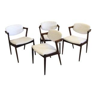 Danish Modern Restored Kai Kristiansen Rosewood Dining Chairs - Set of 4 For Sale