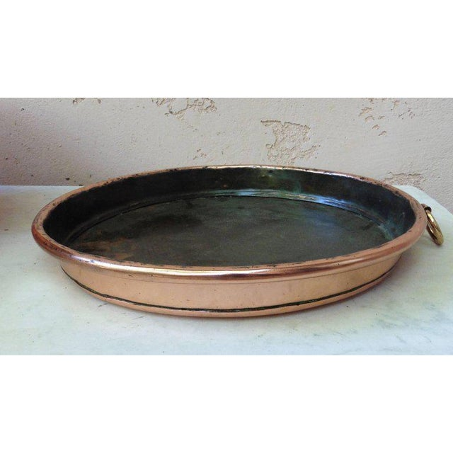 French Provincial 19th Century French Copper Pie Platter Pan For Sale - Image 3 of 4