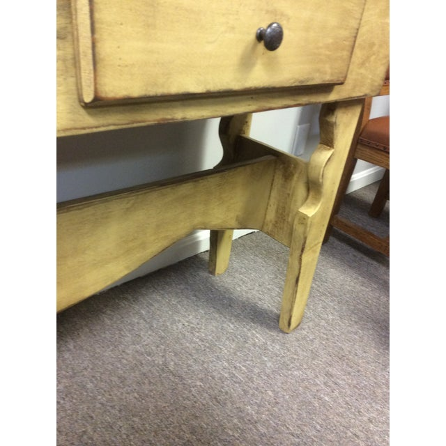 Farmhouse 1980s Shabby Chic Sideboard Buffet For Sale - Image 3 of 8