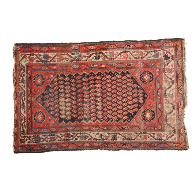 "Antique Hamadan Rug - 4' x 6'3"" For Sale - Image 11 of 11"