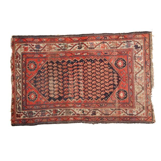 "Antique Hamadan Rug - 4' x 6'3"" - Image 11 of 11"