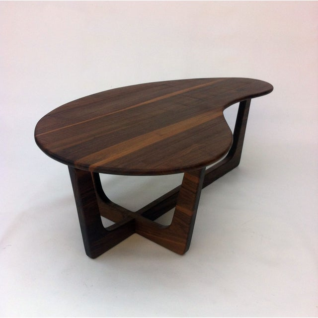 Pearsall Style Walnut Kidney Bean Cocktail Table - Image 3 of 6