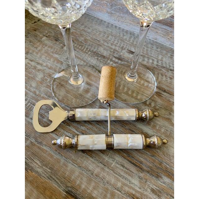 Vintage Mother of Pearl Corkscrew Wine & Bottle Opener Set For Sale In Tulsa - Image 6 of 8