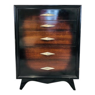 Vintage Mid Century Tall Dresser Chest For Sale