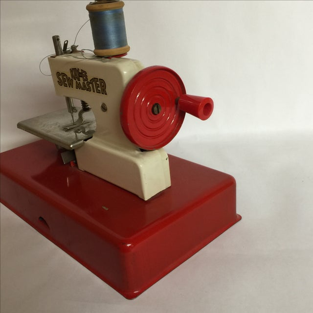 1940s German Made Tiny Sewing Machine For Sale - Image 4 of 7